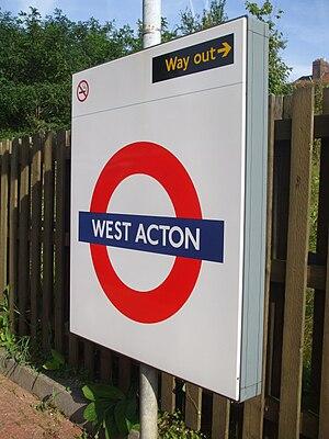 West Acton tube station - Image: West Acton stn roundel