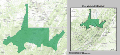 West Virginia's 1st congressional district - since January 3, 2013.