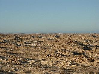 Río de Oro - Desolate landscape terrain in the Río de Oro region, near the town of Guerguerat
