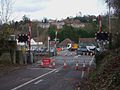 Whyteleafe South stn level crossing look east.JPG