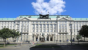 Minister of War (Austria-Hungary) - War Ministry building on Ringstraße, Vienna