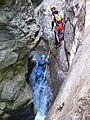 WikiProjekt Landstreicher Starzlachklamm Canyoning 03.jpg