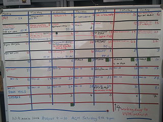 The photo shows the whiteboard with plans on it.