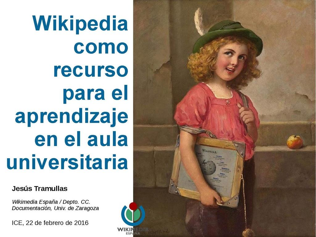 Wikipedia como recurso para el aprendizaje en el aula universitaria