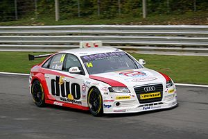 Will Bratt - Bratt driving for Rob Austin Racing at Brands Hatch, during the 2012 British Touring Car Championship season.