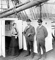 William H. Conner (1877), Captain and wife aboard - Penobscot Marine Museum.jpg