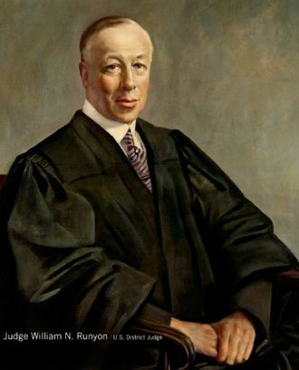 William Nelson Runyon - Runyon as Judge of the United States District Court for New Jersey