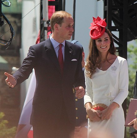 Prince William, Duke of Cambridge, and Catherine, Duchess of Cambridge, at the Canada Day celebrations in Ottawa, 1 July 2011 William and Kate in Ottawa Canada.jpg