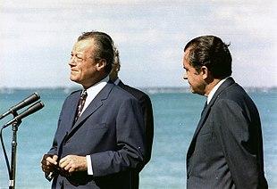 Willy Brandt con Richard Nixon, Presidente degli Stati Uniti d'America, nel 1970