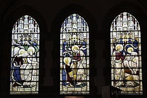 The Church of the Holy and Undivided Trinity, Edale - Image: Window by Sir Ninian Comper in Edale Church