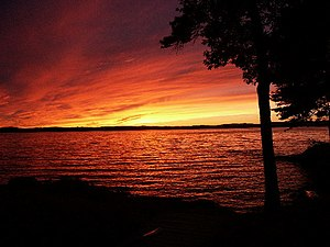Sonnenuntergang am Lake Winnipesaukee