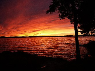Lake Winnipesaukee - Sunset from Long Island