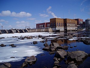 Wisconsin River - A dam in Stevens Point