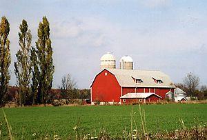 Typische Farm in Wisconsin
