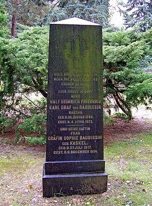 Wolf Heinrich Graf von Baudissin - Memorial marker at Trinitatis graveyard in Dresden