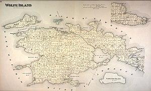 Wolfe Island (Ontario) - 1878 map of Wolfe Island