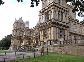 Wollaton Hall - Oblique view of the main facade