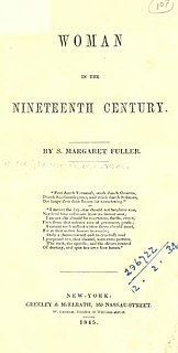 <i>Woman in the Nineteenth Century</i> book by Margaret Fuller