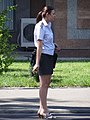 Woman Hails Cab on Street - Tashkent - Uzbekistan (7466953678).jpg