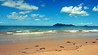 Wongaling Beach, Queensland - Wongaling Beach with Dunk Island in view.