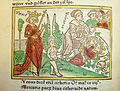 Woodcut illustration of Venus and Cupid, with Vulcan chaining Venus and Mars while Dis looks on in the background - Penn Provenance Project.jpg