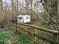 Woodland and caravan, Plain Copse, near Green Hill - geograph.org.uk - 1220006.jpg