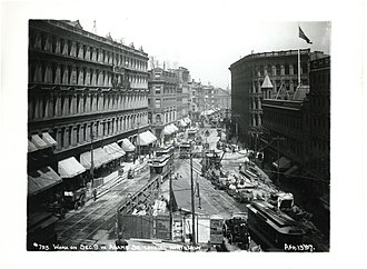 Adams Square (Boston) - Image: Work on Section 9 in Adams Square looking northerly (19156137036)