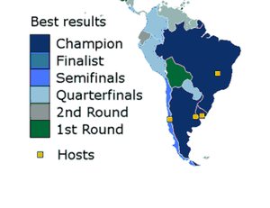 South American Nations At The Fifa World Cup