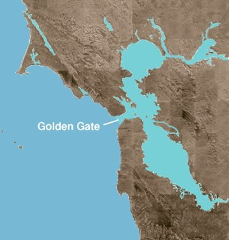 Golden Gate - A map showing the location of the Golden Gate strait