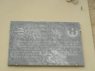 Birthplace of Pope Alexander VI - Square of the natal house of Alexander VI