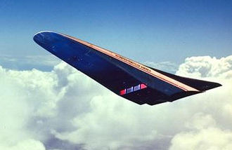 Rockwell X-30 - An artist's concept of the X-30 on re-entry.
