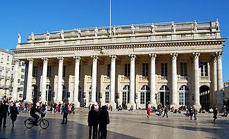 Pierre-François Berruer - Grand Théatre of Bordeaux, with Berruer's statues above the columns.