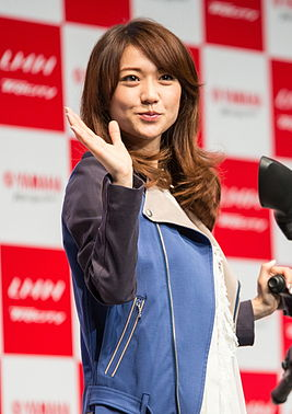 Yūko Ōshima at Yamaha Tricity launching event, July 1, 2014.jpg