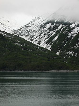 Yakutat Bay - Glacier carved mountains near Yakutat Bay.