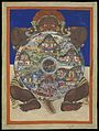 Yama holding the Bhavacakra or Wheel of life. Gouache. Wellcome L0069380.jpg