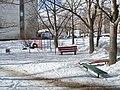 Yaroslavl State University, 4th corpus, street benches.JPG