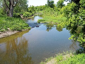 Yellow Bank River - The Yellow Bank River in the Big Stone National Wildlife Refuge in 2007