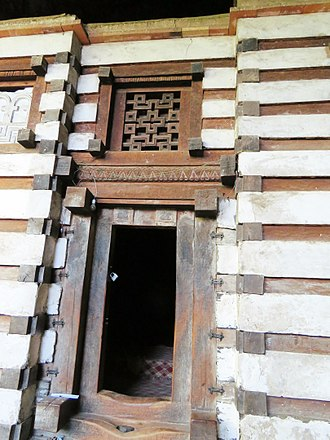 Yemrehana Krestos Church - Entrance to the Yemrehanna Krestos church