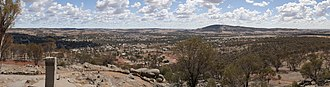 York, Western Australia - Panoramic view of York and the Avon Valley from Mount Brown