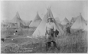 Lakota people - January 17, 1891: Young Man Afraid of his Horses at Camp of Oglala tribe of Lakota at Pine Ridge, South Dakota, 3 weeks after Wounded Knee Massacre, when 150 scattered as 153 Lakota Sioux and 25 U.S. soldiers died.