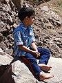 Young Boy at Foot of Alamut Castle - Northwestern Iran (7418110906).jpg