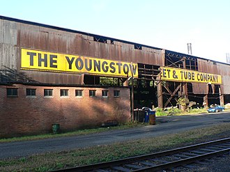 "Economy of Youngstown, Ohio - An abandoned facility of the Youngstown Sheet and Tube Company, owner of the Jeanette Blast Furnace. The Furnace is called ""Jenny"" in the 1995 Bruce Springsteen song ""Youngstown"", which is about the decline of Youngstown as an industrial city."