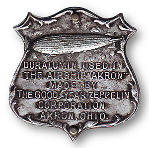 Duralumin - Duralumin sample from the USS ''Akron'' (ZRS-4)