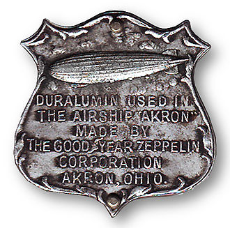 USS Akron (ZRS-4) - Sample of the duralumin from which the frame of USS Akron was built.