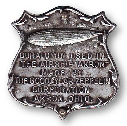 ZRS-4 USS Akron duralumin sample