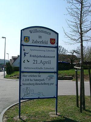 Zaberfeld - Image: Zaberfeld Schild 20070412
