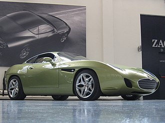 Zagato - The finished Ottovu Diatto concept car at the Zagato Design Studio showroom