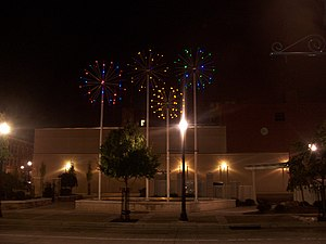 New Castle, Pennsylvania - Zambelli Plaza in Downtown recognizes the pyrotechnics industry in New Castle