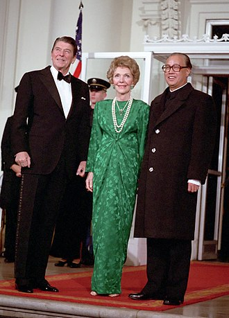 Zhao Ziyang - Zhao was hosted by US president Ronald Reagan at the White House on January 10, 1984 as part of a broader effort to improve China's relations with the West.