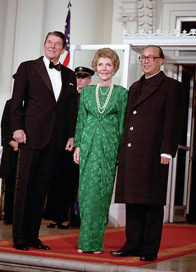 Zhao was hosted by US president Ronald Reagan at the White House on January 10, 1984 as part of a broader effort to improve China's relations with the West. - Zhao Ziyang